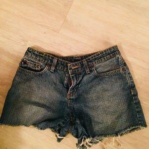 high waisted Ralph Lauren cutoff jean shorts